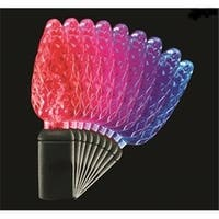 LED C6 Faceted Colorwave Red to Blue Christmas Lights - Green Wire