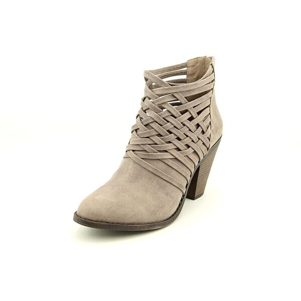 Fergalicious Weever Women Round Toe Canvas Gray Ankle Boot