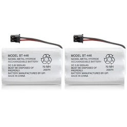 Replacement BT446 Battery for Uniden 5.8GHz TRU8885-3 / TRU9565-2 / WXI477 Phone Models (2 Pack)