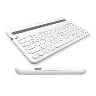 Logitech 920-006343 K480 Bluetooth Multi Device Keyboard, White