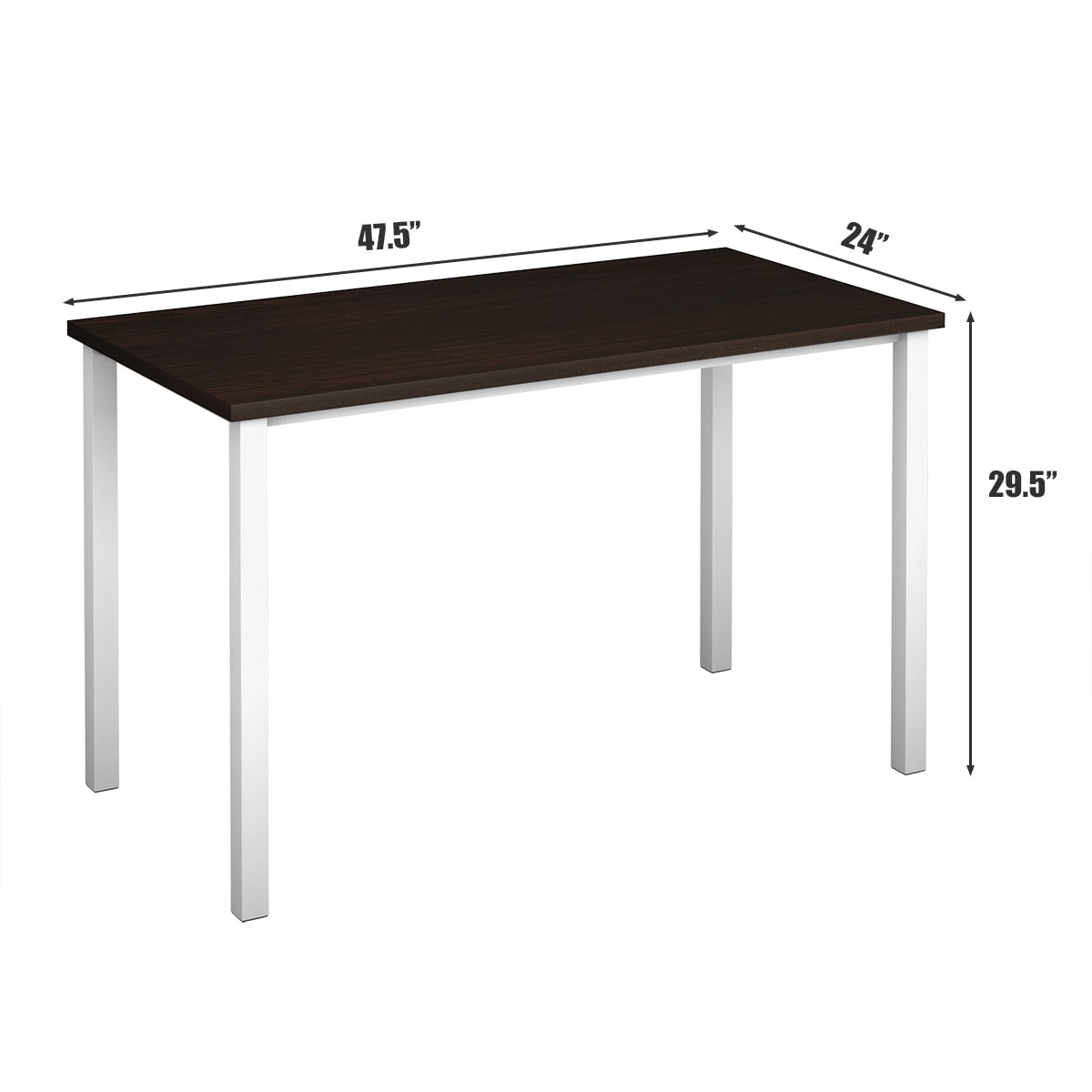 ome Office Desk Computer PC Writing Table Workstation Furniture Wooden Modern
