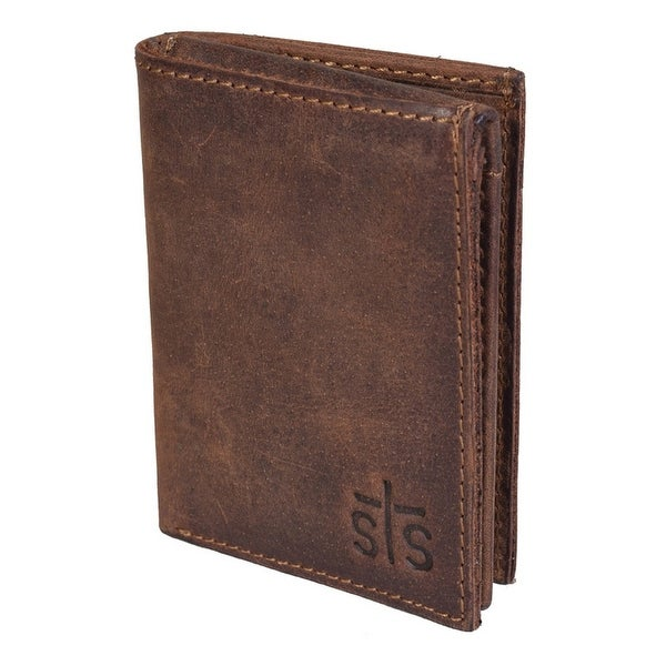 StS Ranchwear Western Wallet Mens Foreman Tri-fold Brown - One size