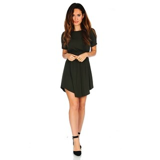 Simply Ravishing Women's Jersey Short Sleeve Blouson Dress (Size: S-3X) (More options available)