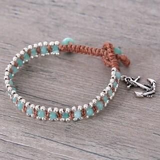 Mad Style Wrap Bracelet W/Anchor Charm - Multi Color