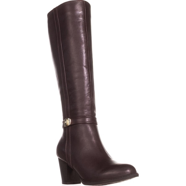 GB35 Raiven Knee High Buckle Boots, Oxblood - 7 us