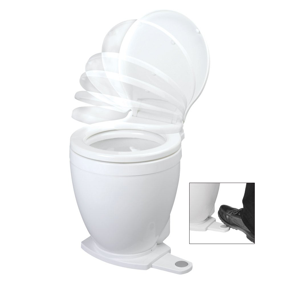 Jabsco lite flush 12v electric toilet with footswitch 58500-0012
