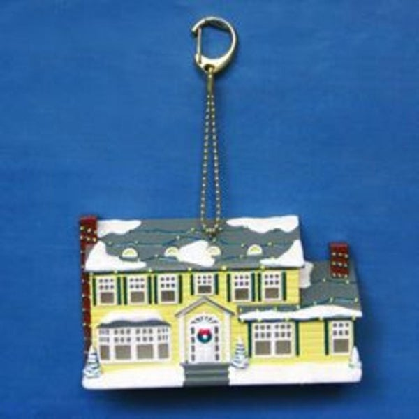 "3.5"" National Lampoon Christmas Vacation Light Up House Clip on Christmas Ornament"