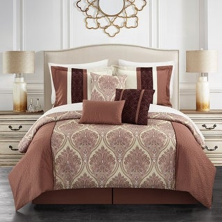 Link to Gracewood Hollow Hosseini 11-piece Reversible Bed-in-a-Bag Comforter Set Similar Items in Comforter Sets