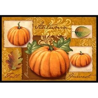 Carolines Treasures PTW2006MAT Fall Harvest Pumpkins Indoor & Outdoor Mat 18 x 27 in.