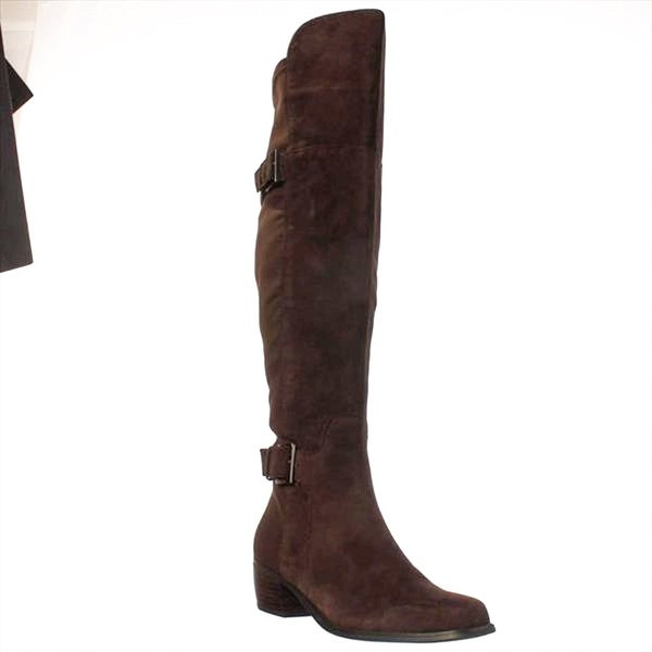 Marc Fisher Womens Fashion Suede Square Toe Knee High Riding Boots - 5.5