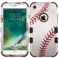 Insten White/ Red Baseball Tuff Hard PC/ Silicone Dual Layer Hybrid Rubberized Matte Case Cover For Apple iPhone 7 - Thumbnail 0