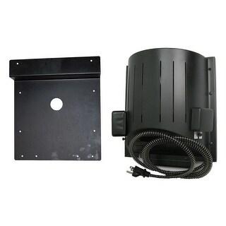 "AKOMA Dog Products Heat-N-Breeze Dog House Heater and Fan with Igloo Bracket Black 10"" x 10"" x 4.5"""
