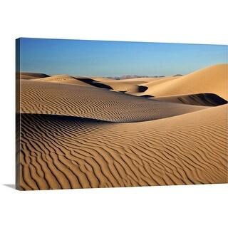 """Sunset at Dunes"" Canvas Wall Art"