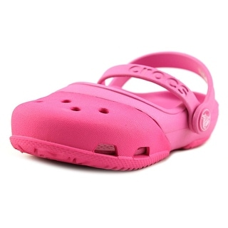 Crocs Electro II Mary Jane Youth  Round Toe Synthetic Pink Clogs