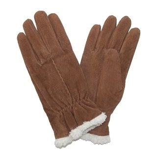 Isotoner Women's Suede with Sherpa Spill Winter Gloves