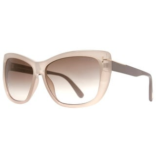 Tom Ford Lindsay TF434 57G Clear Beige/Brown Women's Butterfly Sunglasses - Beige - 58mm-13mm-140mm