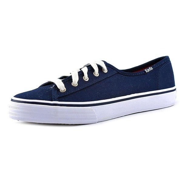 Keds Double Up Women Round Toe Canvas Blue Sneakers