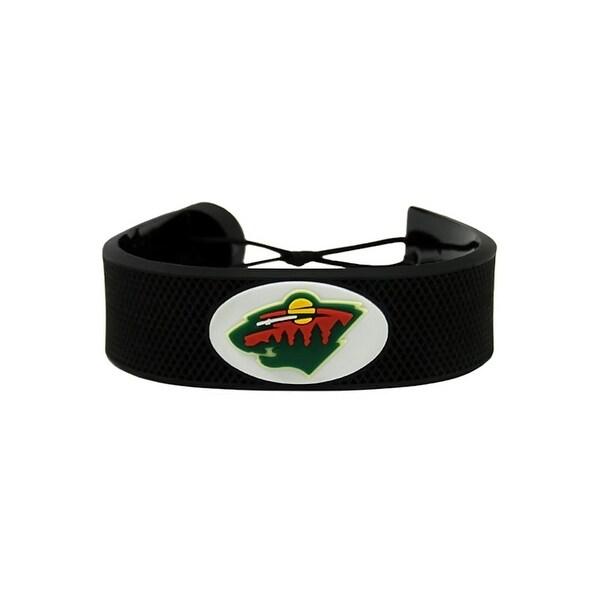 Minnesota Wild Clic Nhl Wear Leather Hockey Bracelet