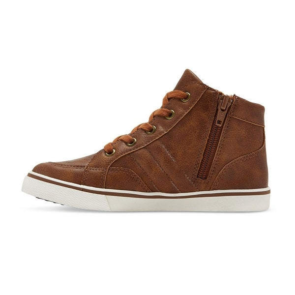 Cat /& Jack Boys Florian Mid Top Leather Sneaker Shoes