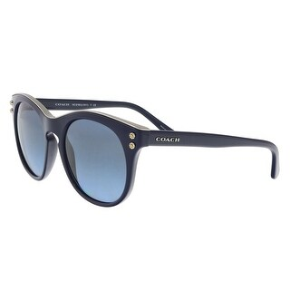 Coach HC8190 542217 Navy Round Sunglasses - 51-19-140