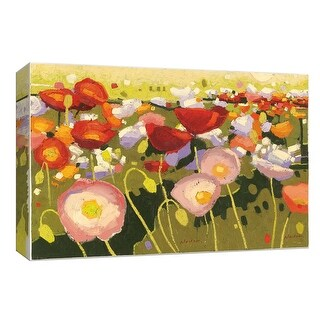 """PTM Images 9-153881  PTM Canvas Collection 8"""" x 10"""" - """"Confetti II"""" Giclee Flowers Art Print on Canvas"""
