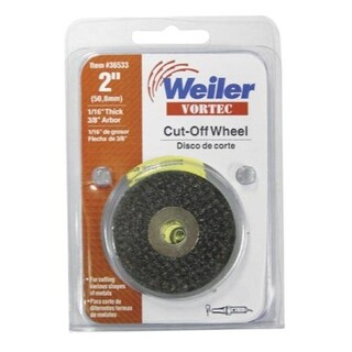 """Weiler 36533 Cutoff Wheel, 2""""X1/16""""X3/8"""""""