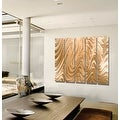 Statements2000 Huge Light Copper Modern Abstract Metal Wall Art Painting by Jon Allen - Copper Hypnotic Sands Epic - Thumbnail 4