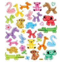 Multicolored Stickers-Balloon Animals
