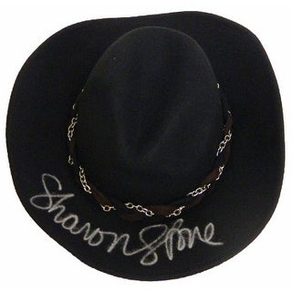 Sharon Stone signed Black Wool Cowboy Hat- The Quick And The Dead- (Full sig)- PSA Hologram