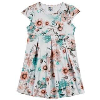 Girls Dress Kids Flower Sundress Pulla Bulla Sizes 2-10 Years