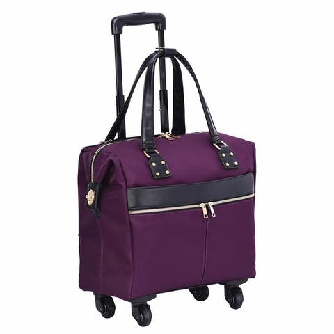 """Mellow World 15"""" Rolling Carry-On Suitcase with 4-wheel spinner"""