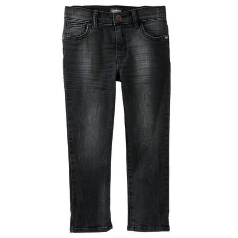 OshKosh B'gosh Big Boys' Slim Fit Stretch Jeans - Asteroid Grey, 12 Kids