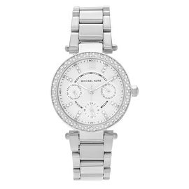 Michael Kors Women's MK5615 'Parker' Stainless Steel Crystal Bezel Multi-function Bracelet Watch
