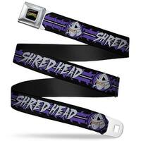 Classic Tmnt Logo Full Color Shredder 2 Action Poses Gray Purple Webbing Seatbelt Belt