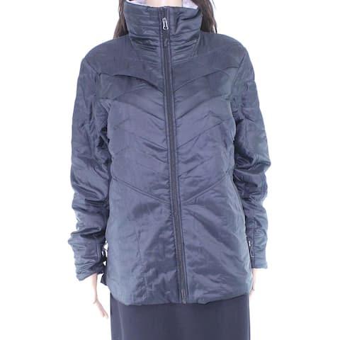Columbia Womens Jacket Black Size Large L Waterproof Full-Zip Hooded