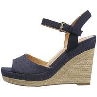 Tommy Hilfiger Womens kali Fabric Open Toe Casual Platform Sandals