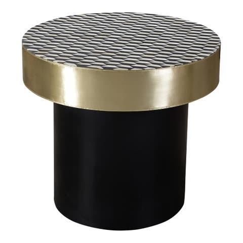 Aurelle Home Modern Geometric Side Table