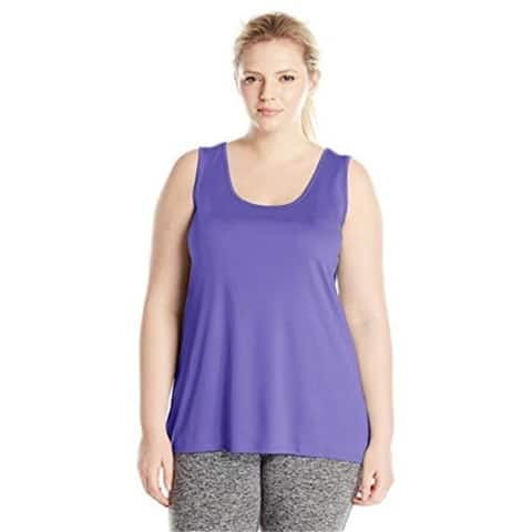Just My Size 90563231683 Womens Plus-Size Cooldri Tank - Petal Purple 5X