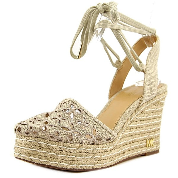 f1874eea313 Shop Michael Michael Kors Darci Closed Toe Wedgoe Women Canvas Wedge ...