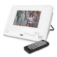 Water Resistant & Weather-Proof 9'' Portable CD/DVD Player, Built-in Rechargeable Battery, USB/SD Readers