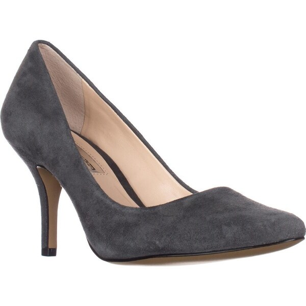 I35 Zitah Classic Pointed Toe Pump Heels, Dark Grey