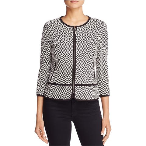 Finity Womens Geometric Ponte Jacket