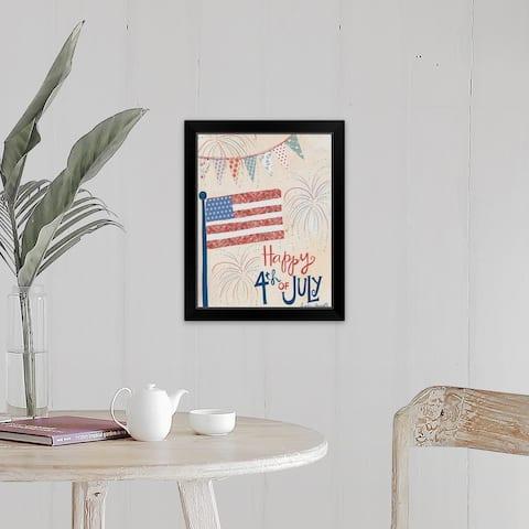 """4th of July"" Black Framed Print"