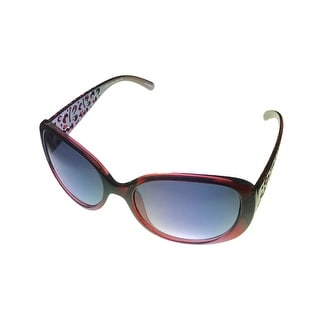 Esprit Womens Sunglass 19376 517 Black to Red Fade Plastic, Smoke Gradient Lens - Medium