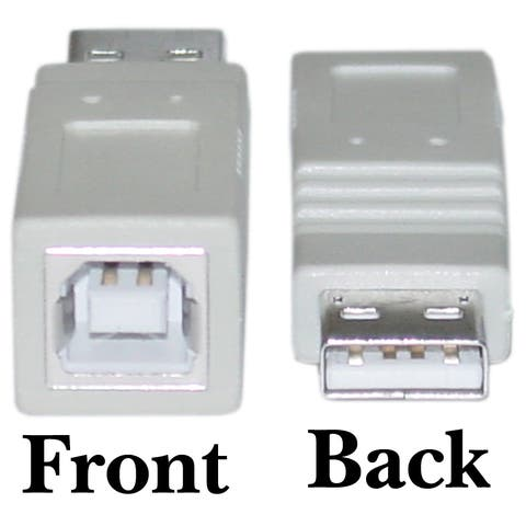 Offex USB A to B Adapter, Type A Male to Type B Female