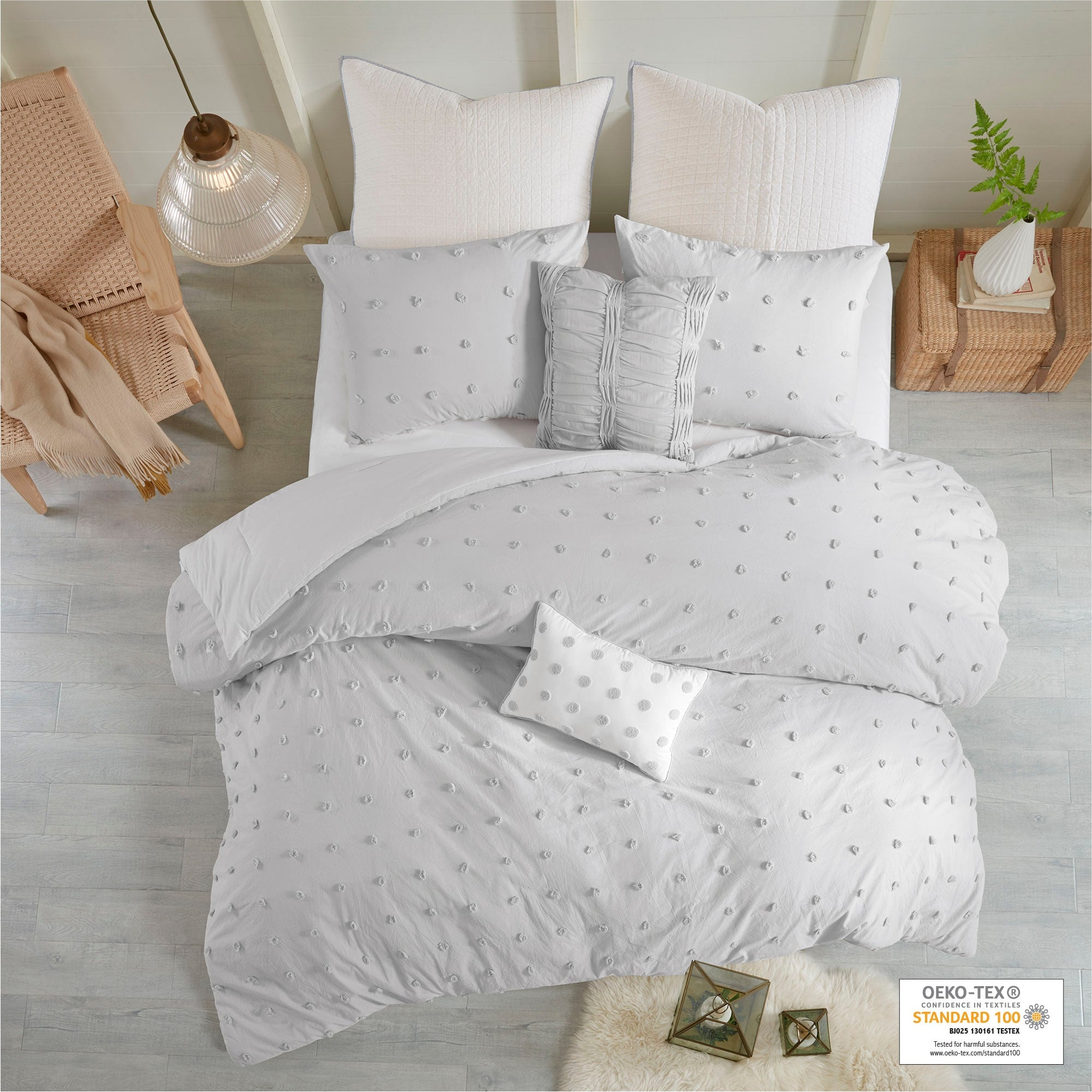 Urban Quilted Bedspread /& Pillow Shams Set Aerial View New York City Print