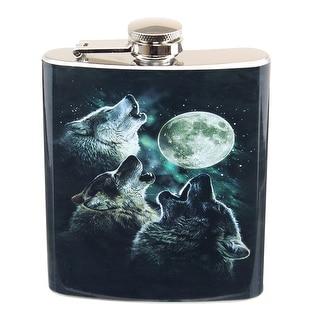 Three Wolf Moon 7oz Flask