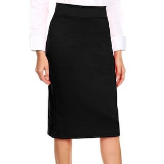 NE PEOPLE Womens Basic Elastic Midi Length Stretchy Ponte Pencil Skirts NEWSK40
