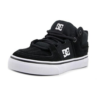 DC Shoes Lynx Vulc Mid Youth  Round Toe Canvas Black Skate Shoe
