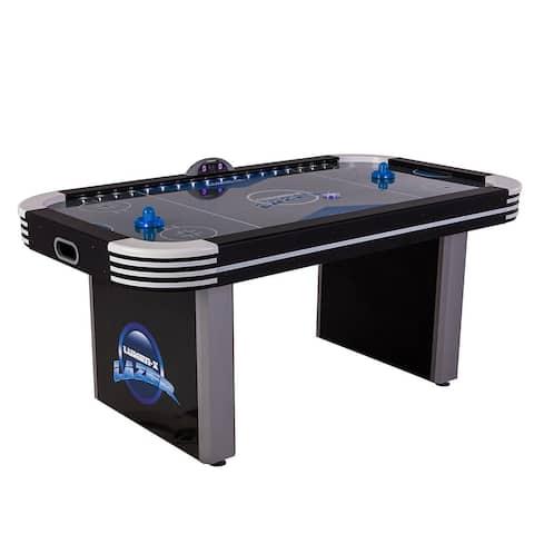 Triumph Lumen-X Lazer 6' Air Hockey Table / 45-6800W - Black